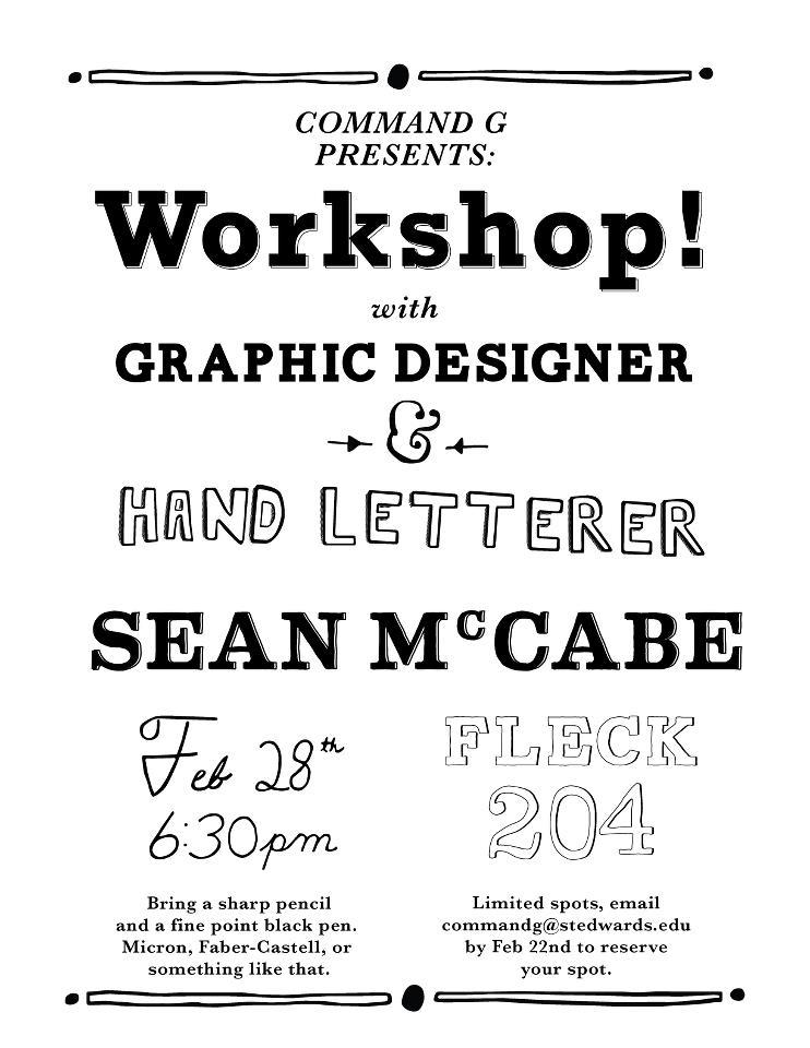 Sean McCabe Workshop
