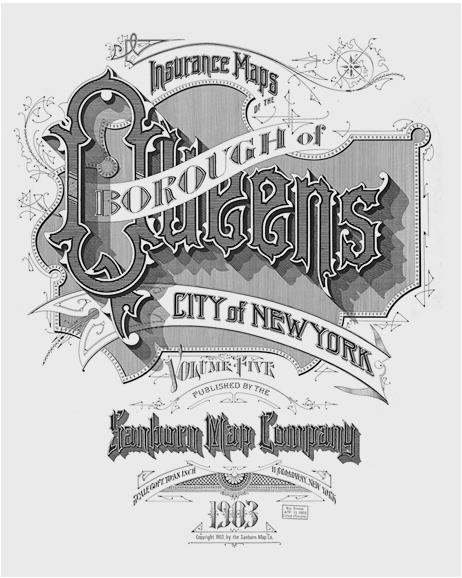 1900s Typography - Sandborn Map Company