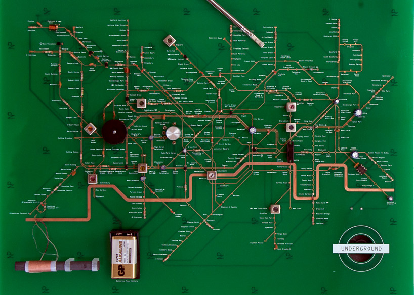 yuri suzuki: london underground circuit map radio
