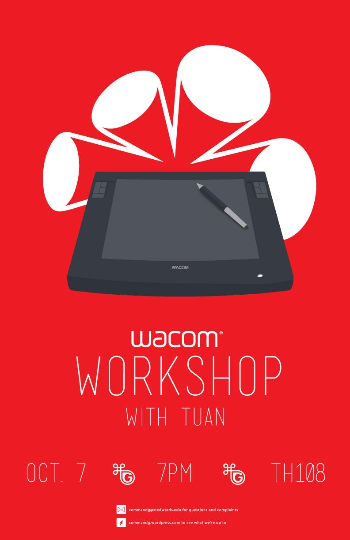 Poster design workshop - Wacom Workshop Poster